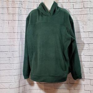 Steve& Barry's green fleece hoodie with pockets, L